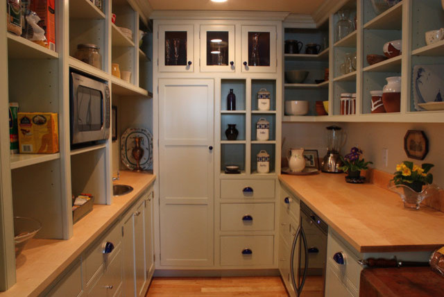 Custom Walk-in Pantry - Traditional - Kitchen - Portland Maine - by Wallace Cabinetry