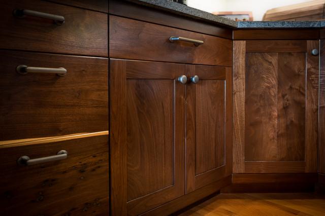 fascinating modern walnut kitchen cabinets | Custom Walnut Kitchen Cabinets - Contemporary - Kitchen ...