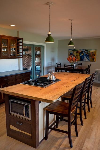 Custom Walnut Kitchen Cabinets Contemporary Kitchen By Gray Fox Design Works