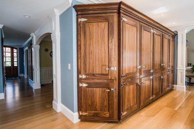 Custom Walnut Kitchen Pantry Cabinets - Traditional ...