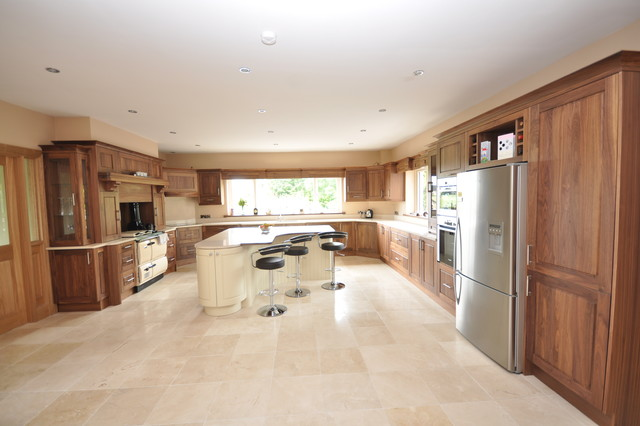 Custom walnut kitchen modern kitchen dublin by woodale for Kitchen designs ireland