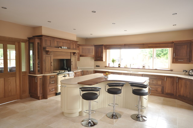 Custom walnut kitchen modern kitchen dublin by woodale for Kitchen ideas dublin