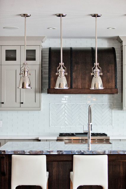 Custom waterfront home barrie transitional kitchen for Kitchen cabinets barrie