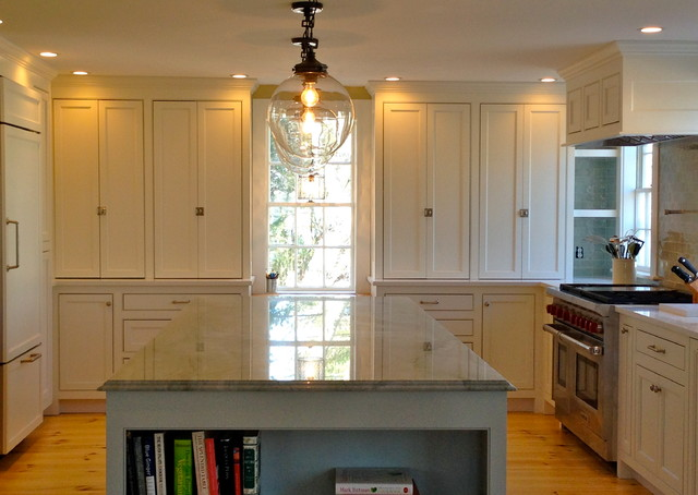 Custom White Cabinets Counter To Ceiling