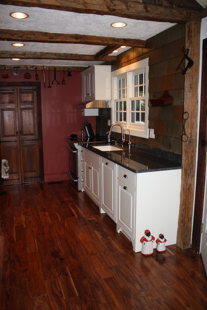 Custom White Inset Cabinets - Traditional - Kitchen - New ...