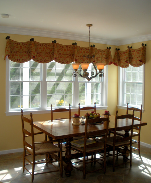 Beau Custom Window Valances Traditional Kitchen