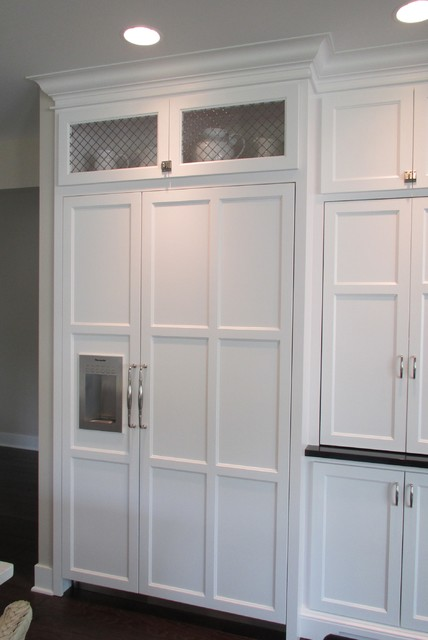 Custom Wire Mesh Grillework created for Kitchen Cabinets - Transitional - Kitchen - Grand Rapids ...