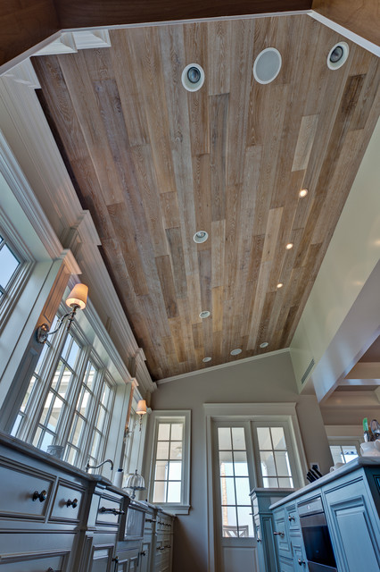 Custom Wood Ceiling Craftsman Kitchen Miami By