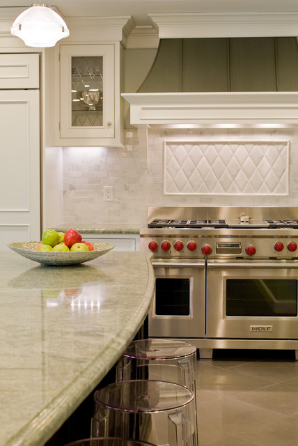 Custom Zinc Hood traditional kitchen