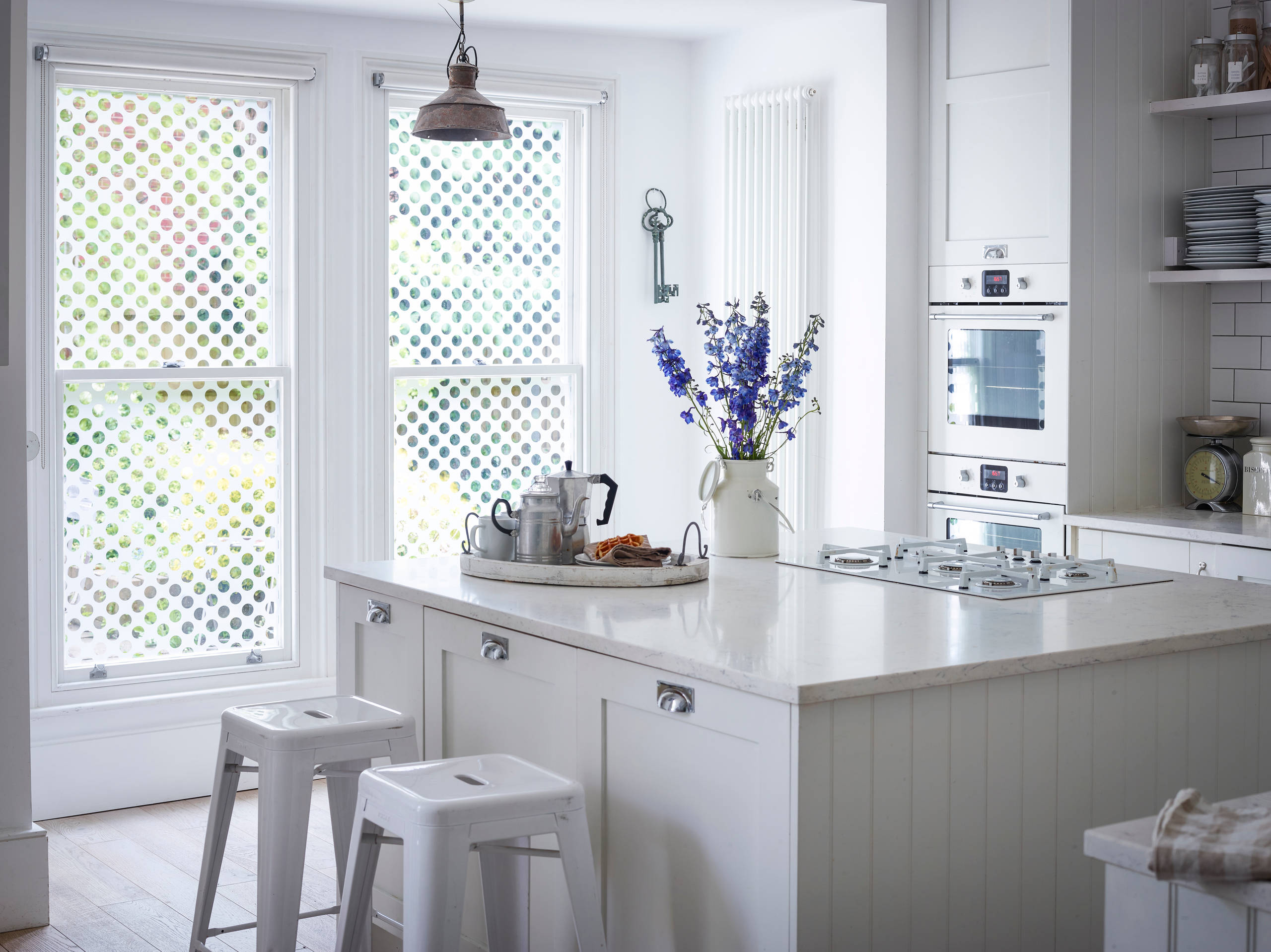 White Frosted Glass Kitchen Houzz