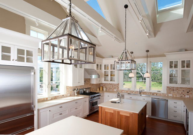 Cutchogue Waterfront Residence Traditional Kitchen
