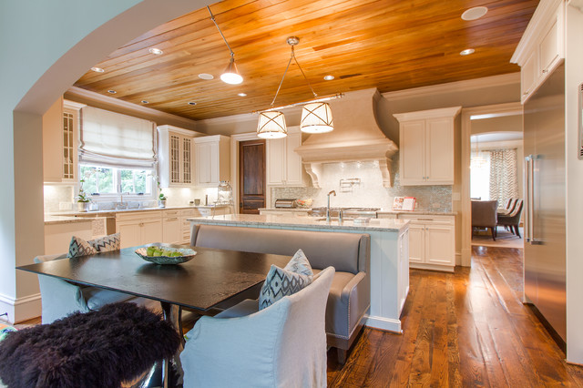 Cypress Tongue And Groove Ceiling With Clear Finisharts Crafts Kitchen Atlanta