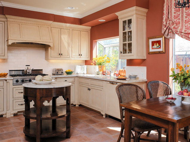 Du0027s Bold Colors Mediterranean Kitchen