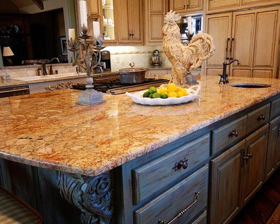 Distressed Teal Kitchen Design Ideas, Remodels & Photos