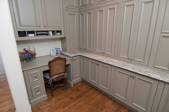 Pantry Desk Area - Traditional - Kitchen - dallas - by Kitchen Design ...