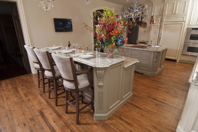 Double islands traditional kitchen dallas by - Authentic concepts kitchen bath design ...