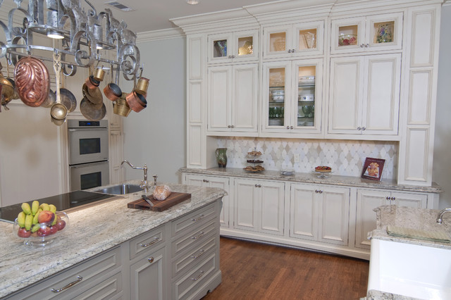 Built in hutch area traditional kitchen dallas by for Built in kitchen designs