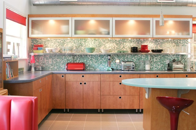retro kitchen design. Retro Kitchen contemporary kitchen  Contemporary Dallas by
