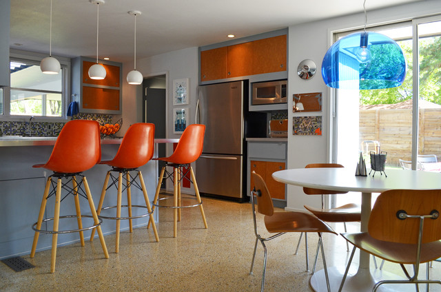 Dallas, TX: Stolp midcentury-kitchen