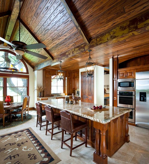 Dallas Upscale Kitchen Renovations Rustic Kitchen