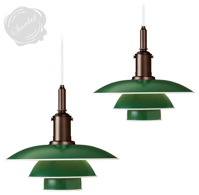 Danish mid century modern vintage style hanging pendant for Mid century modern kitchen lighting