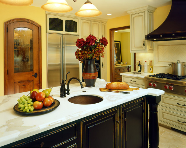Danville Ca Black Hawk Mediterranean Kitchen San Francisco By Castle Rock Construction
