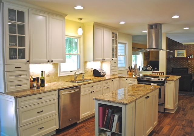 Dark and Dingy No More! traditional-kitchen