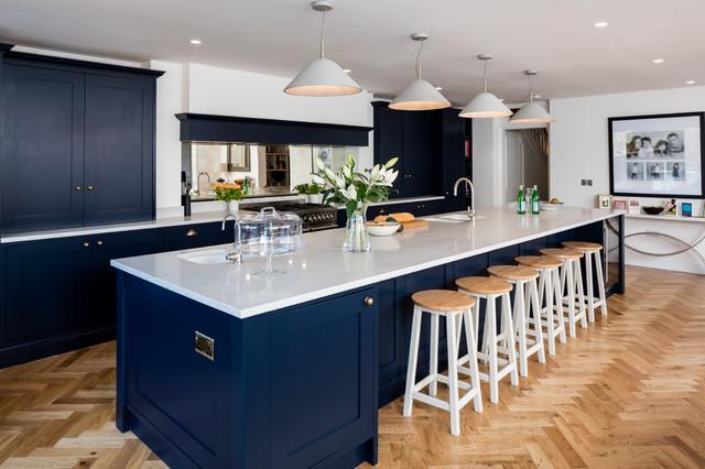 Dark Blue Shaker Kitchen Reading