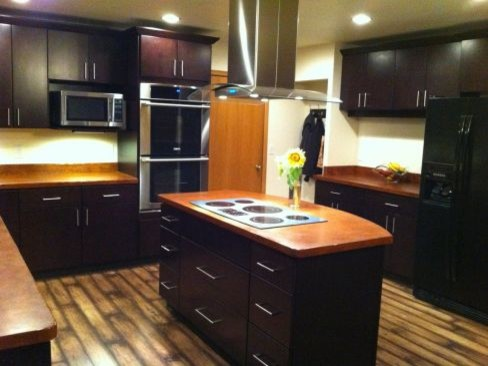 dark brown kitchen cabinets tribecca door style