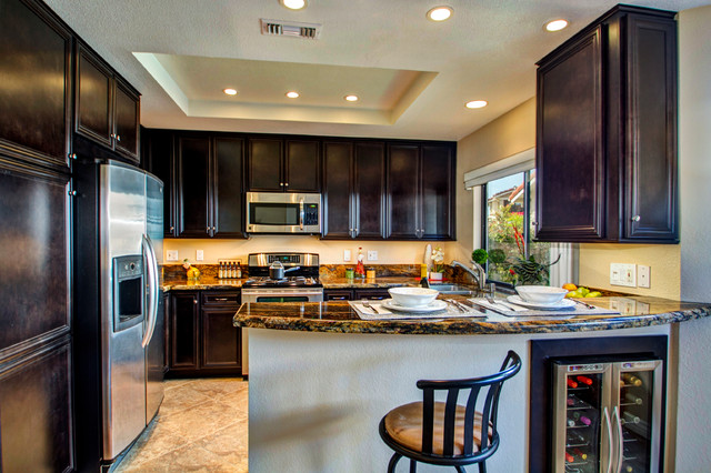 Dark Cabinetry Kitchen  Traditional  Kitchen  san diego  by