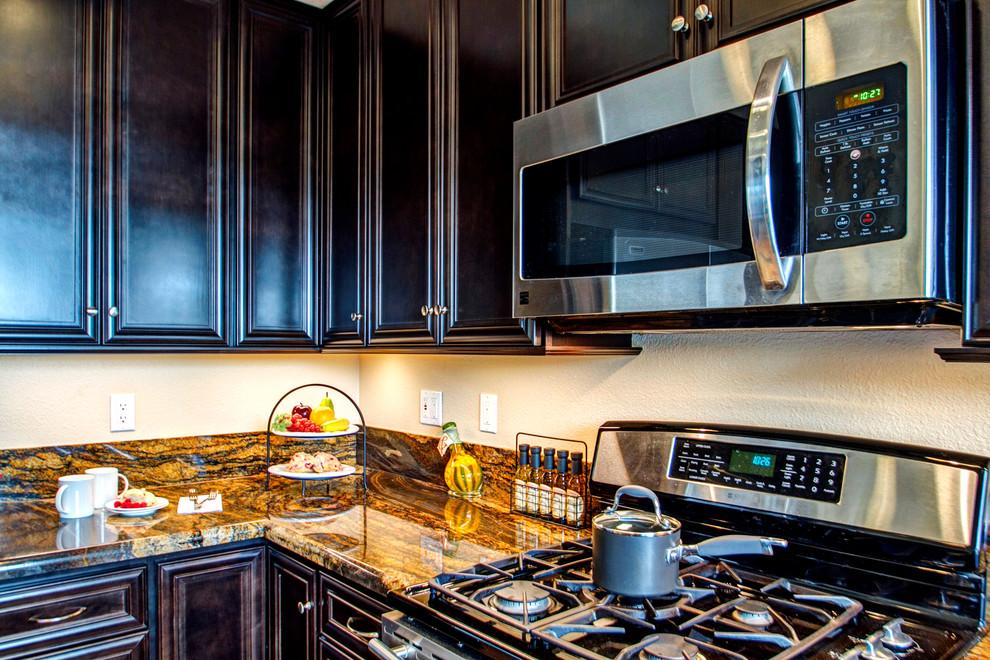 Dark Cabinetry Kitchen - Traditional - Kitchen - San Diego ...