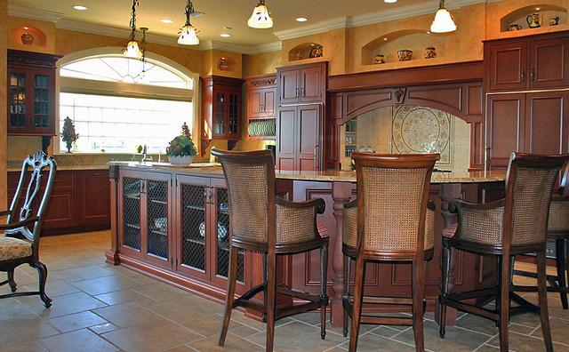 Dark Cabinetry Kitchen traditional-kitchen