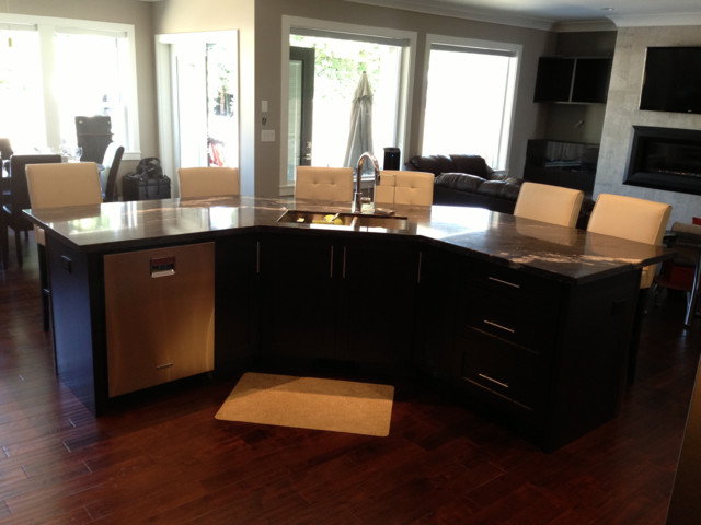 Dark Cabinets Contemporary Kitchen Vancouver By Redrose Woodworking Design Ltd