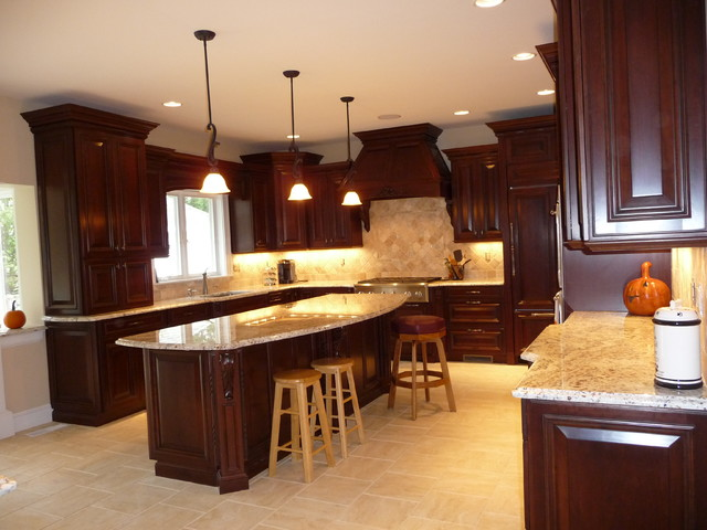Dark Cherry Kitchen Remodel-Before/After - Traditional - Kitchen - Boston - by S.D.M. Custom ...