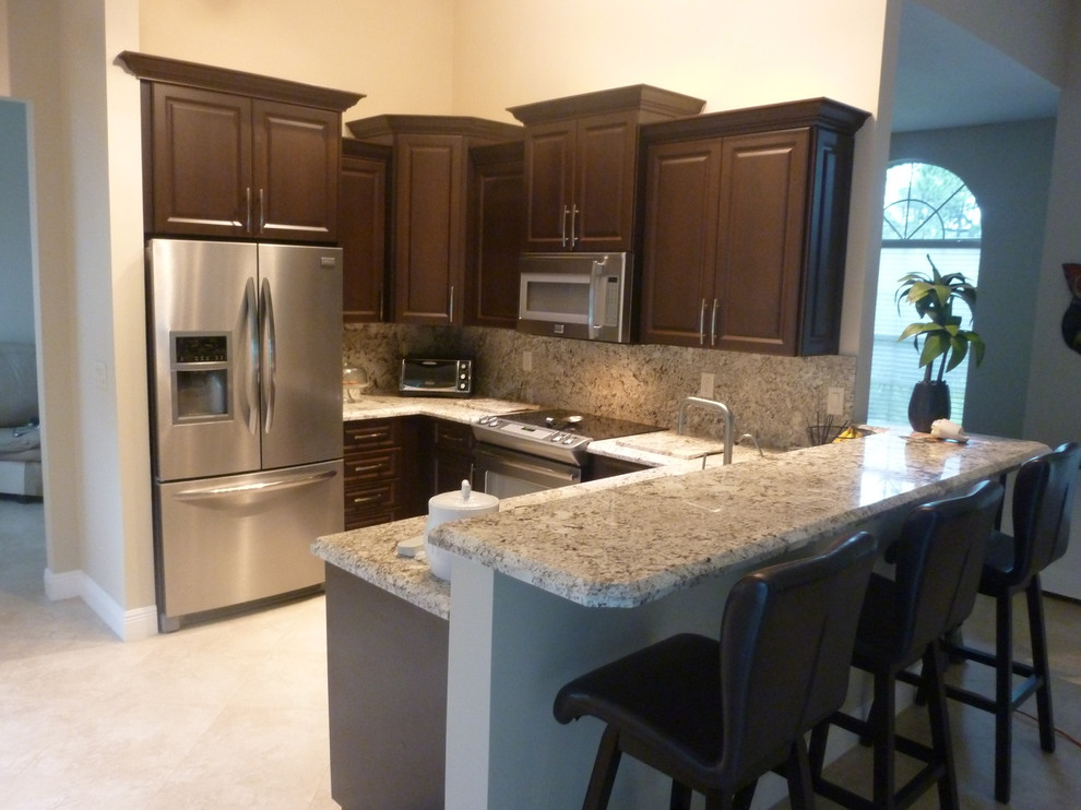 Dark Chocolate Thermofoil Kitchen Cabinets Kitchen Miami By Visions