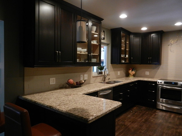 Dark Espresso Kitchens - Traditional - Kitchen - miami - by Superior Kitchens and More