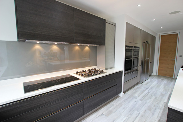Dark handleless kitchen ideas - Modern - Kitchen - other metro - by LWK Kitchens London