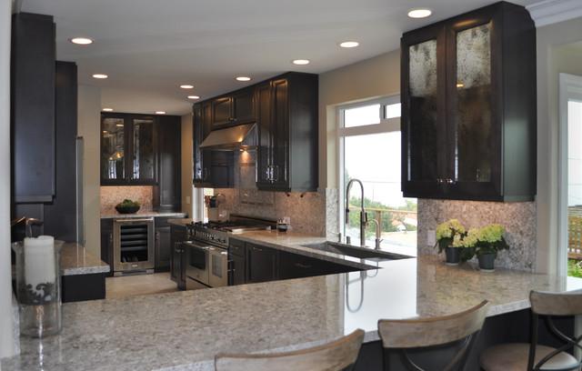 Dark Maple Cabinets