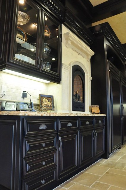 Dark Maple Kitchen mediterranean-kitchen
