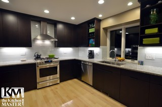 Dark Modern Kitchen dark modernadam hartig akbd - modern - kitchen - chicago -