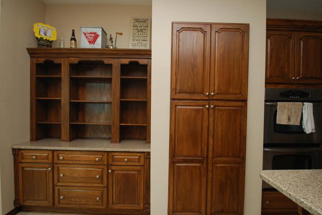 Dark Walnut Stained Cabinets - Traditional - Kitchen ...