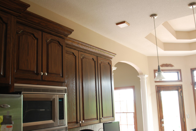 Dark Walnut Stained Cabinets - Traditional - Kitchen - kansas city ...
