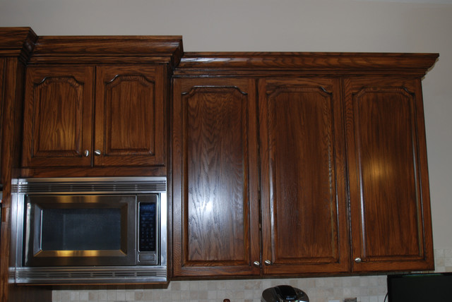 walnut stained kitchen cabinets walnut stained cabinets traditional kitchen 28161