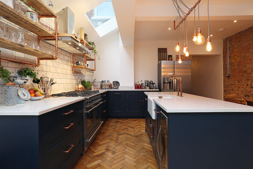 dessert road industrial kitchen houzz raw wood