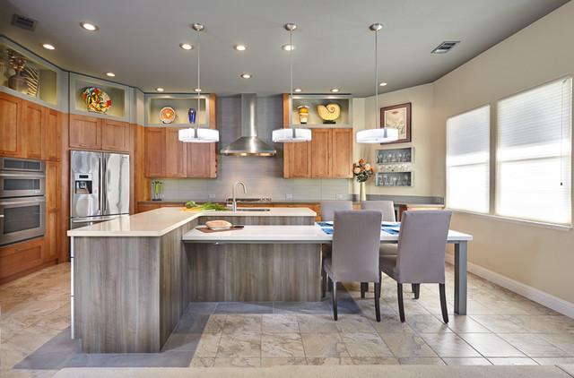 Davis Rockwell Residence. Nar Fine Carpentry. Sacramento. El Dorado Hills contemporary-kitchen