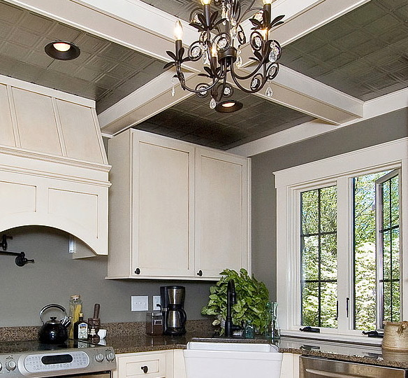 tin ceiling tiles in kitchen kitchen ceilings with tin tiles traditional kitchen 8528