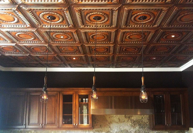 Tin Kitchen Ceiling Traditional Kitchen Other Metro