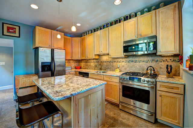 Dc Row Home Addition Kitchen Island Eclectic Kitchen Other Metro By Synergy Design