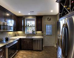 DC Row Home Kitchen - Fridge traditional-kitchen