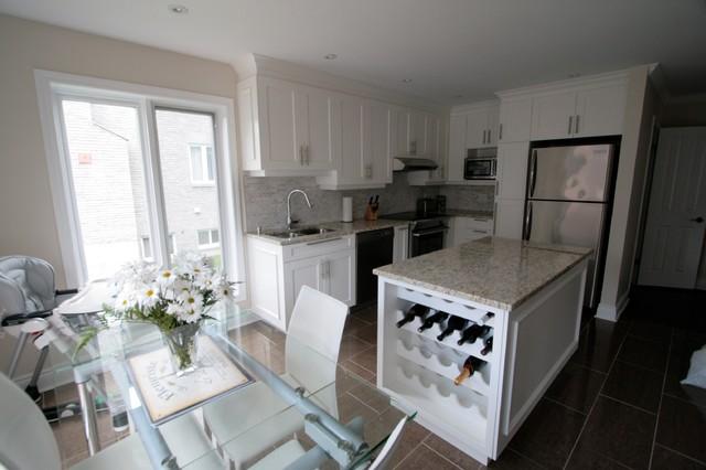 DDO (Montreal) Kitchen - White Delight contemporary-kitchen